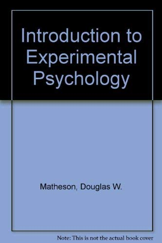 Introduction to Experimental Psychology: Richard Loren Bruce;