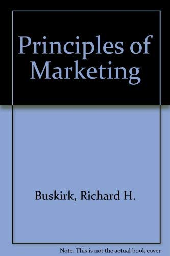 9780030770258: Principles of Marketing