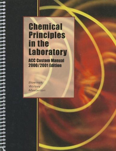9780030770722: Chemical Principles in the Laboratory