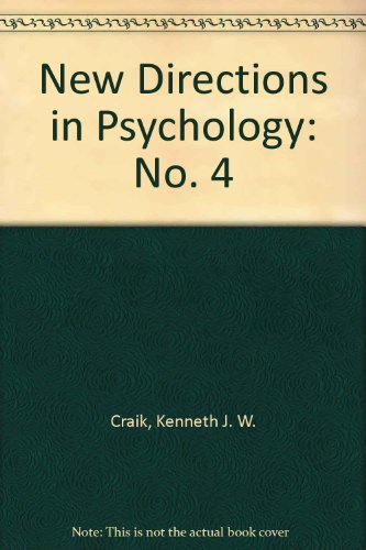 9780030770807: New Directions in Psychology: No. 4