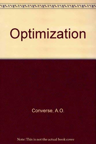 9780030771200: Optimization
