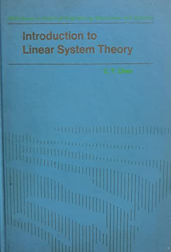 Introduction to linear system theory (Holt, Rinehart: Chen, Chi-Tsong