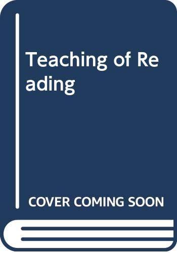 9780030772108: Teaching of Reading