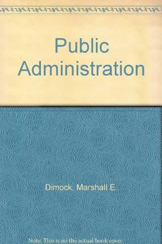 9780030772252: Public Administration