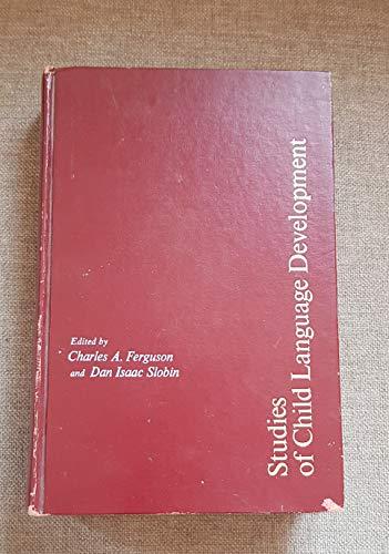 9780030774508: Studies of Child Language Development