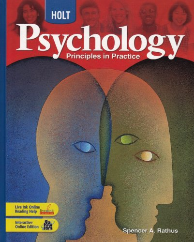 9780030777899: Holt Psychology: Principles in Practice