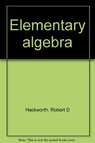 9780030778209: Elementary algebra