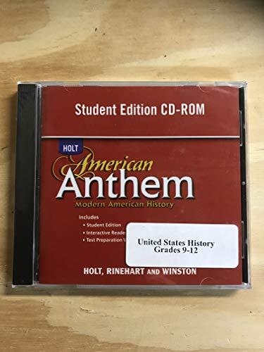 9780030778285: American Anthem, Modern American History: Student Edition CD-ROM 2007