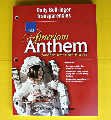 9780030778599: Daily Bellringer Transparencies (Holt American Anthem: Modern American History)