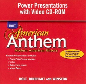 9780030778636: American Anthem, Modern American History: Power Presentations with Video CD-ROM