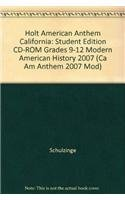 9780030778728: Holt American Anthem California: Student Edition CD-ROM Grades 9-12 Modern American History 2007