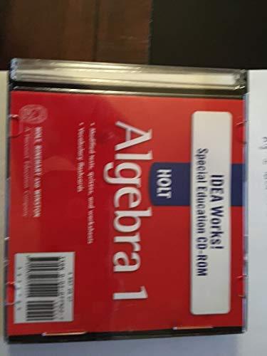 9780030779220: Holt Algebra 1-IDEA Works-Special Education CD (Holt Math)