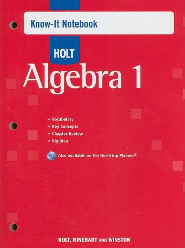 9780030779237: Holt Algebra 1: Know-It Notebook