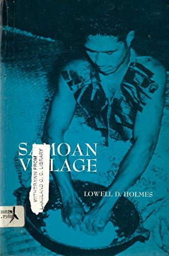 9780030779251: Samoan Village (Study in Cultural Anthropology)
