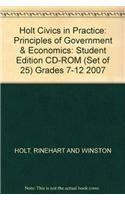 9780030779817: Civics in Practice: Principles of Government & Economics: Student Edition CD-ROM (set of 25) 2007