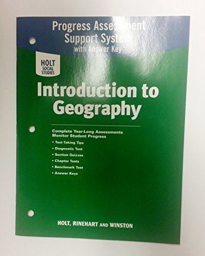 9780030780219: Holt Social Studies Progress Assessment Support System with Answer Key, World Geography