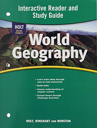 9780030780226: World Geography: Interactive Reader and Study Guide