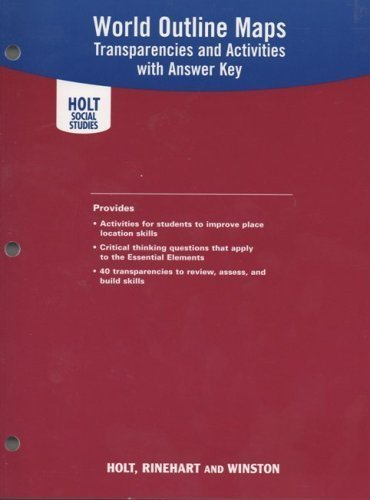 9780030780622: Holt Social Studies World Outline Maps: Transparencies and Activities with Answer Key