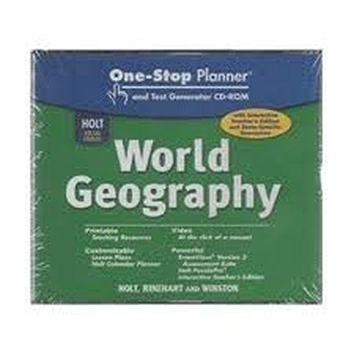 9780030780691: Holt World Geography: ONE-STOP CD-R Chapter Resource Files