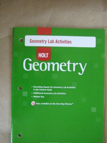 9780030780868: Geometry: Lab Activities With Answers
