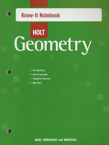 Holt McDougal Geometry: Know-It Notebook: HOLT, RINEHART AND
