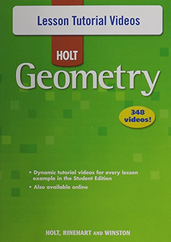 9780030781025: Holt Geometry © 2007: Lesson Tutorial Videos DVD-ROM