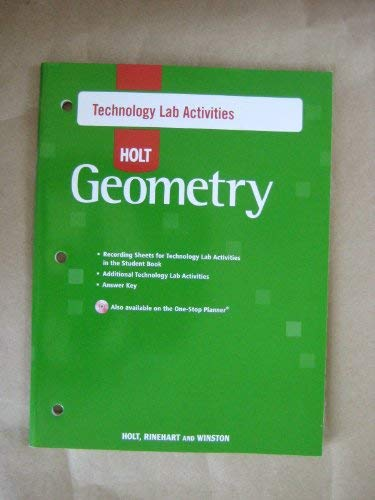 9780030781193: Technology Lab Activities for Holt Geometry