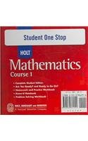 9780030781391: Student One Stop Holt Mathematics, Course 1
