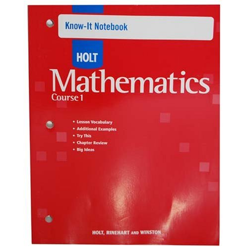 9780030782480: Know-It Notebook Holt Mathematics Course 1 2007