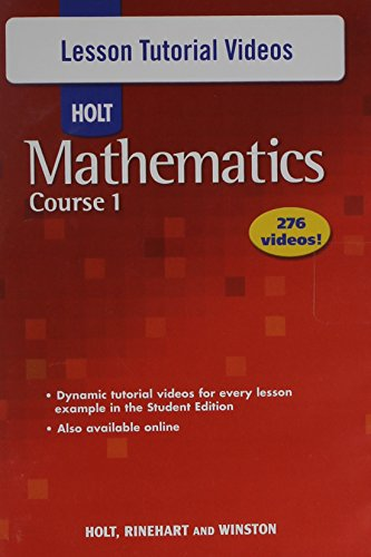 9780030782596: Holt Mathematics Course 1: Lesson Tutorial Videos CD-ROM