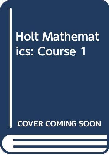 9780030782718: Holt Mathematics: Course 1- Solutions Key