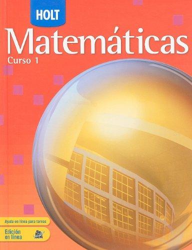9780030782725: Holt Matematicas, Curso 1