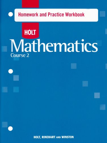 9780030783210: Holt Mathematics: Homework Practice Workbook Course 2