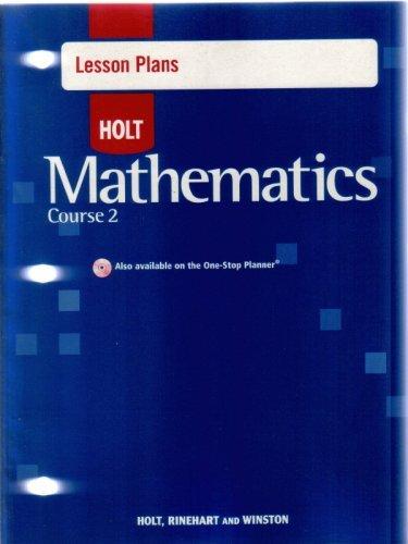 9780030783296: Holt Mathematics Course 2: Lesson Plans