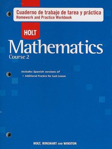 Holt Matematicas, Curso 2: Cuaderno de Trabajo: Holt Rinehart &