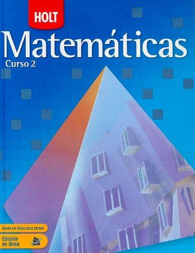 9780030783487: Holt Mathematics Course 2: Spanish Student Edition 2007