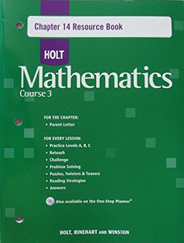 9780030784064: Chap Res Bk 14 W/ANS Holt Math CS 3 2007