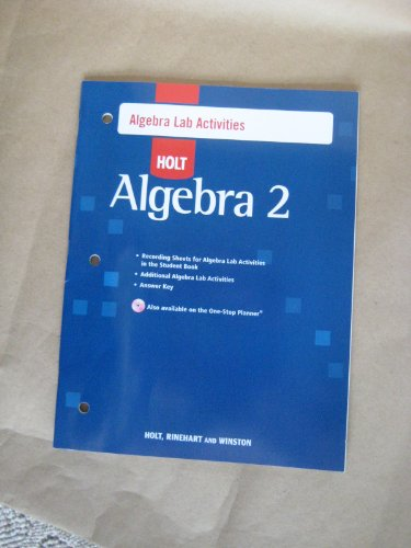 9780030784125: Algebra 2: Lab Activities With Answers