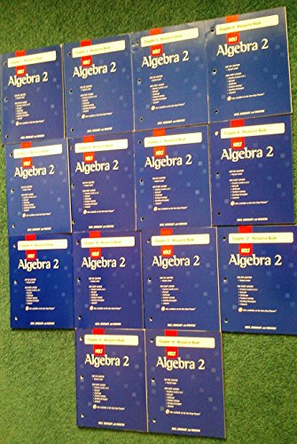 9780030784163: Chapter Resources (Holt Algebra 2, Chapters 1-14 [set of 14 books])