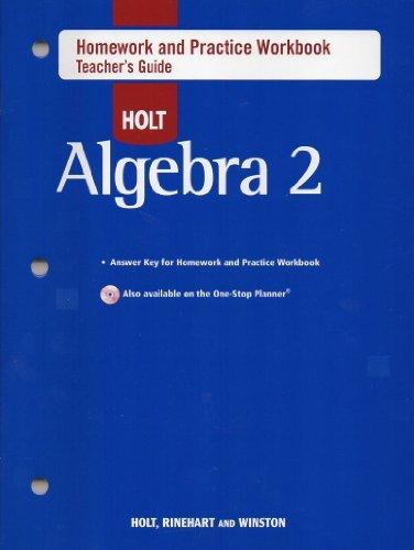 9780030784217: Holt Algebra 2: Homework and Practice Workbook Teachers Guide