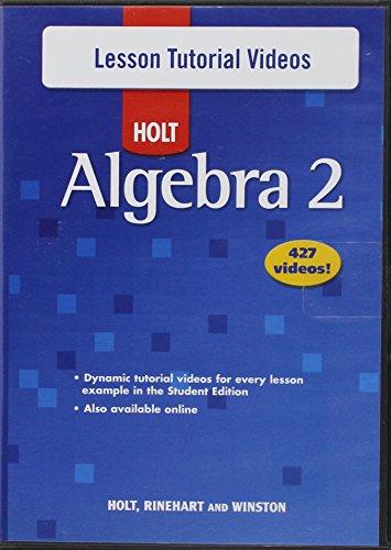 9780030784378: Holt Algebra 2: Lesson Tutorial Videos DVD-ROM Algebra 2