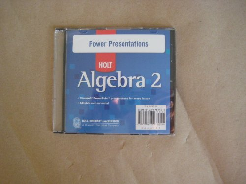 Power Presentations CD-ROM Alg 2 2007: Winston, Holt Rinehart &