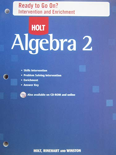 9780030784439: Holt Algebra 2: Ready to Go On? Intervention and Enrichment