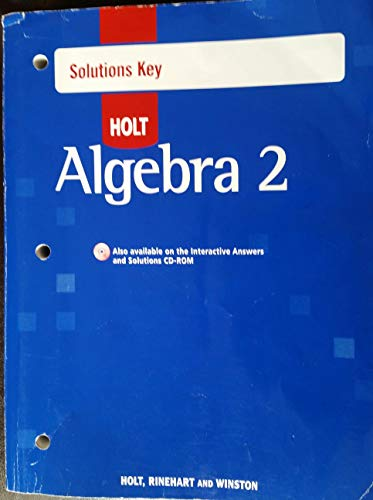9780030784484: Algebra 2: Solutions Key