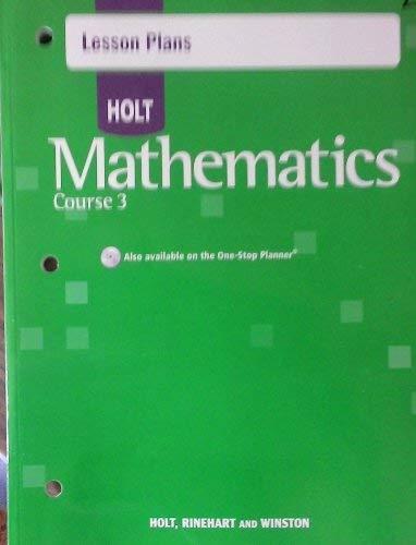9780030784736: Lesson Pln Holt Math CS 3 2007
