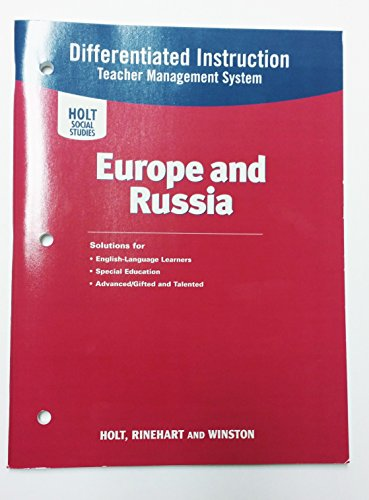 9780030785269: World Geography: Differentiated Instruction System Europe and Russia