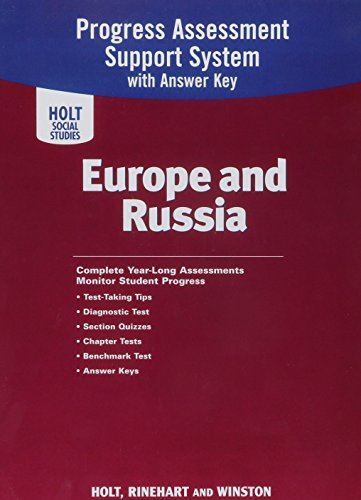 9780030786037: Progress Assessment Support System with Answer Key: Europe and Russia (Holt Social Studies)
