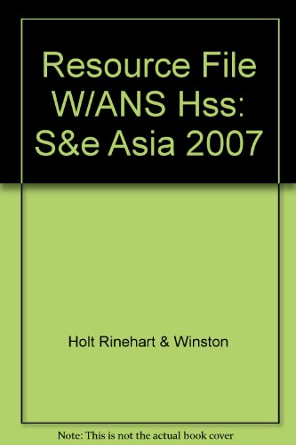 9780030786396: Resource File W/ANS Hss: S&e Asia 2007