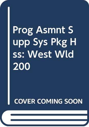 9780030787096: Prog Asmnt Supp Sys Pkg Hss: West Wld 200