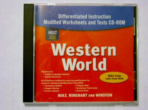 9780030787140: Holt Social Studies: Western World: and Tests CD-ROM